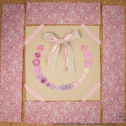 Cushion with Silk Ribbon Roses tutorial (3)