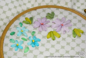 Ribbon embroidery - straight stitch ex
