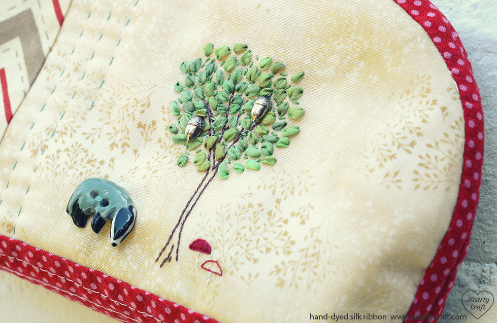silk ribbon embroidery - tree tutorial