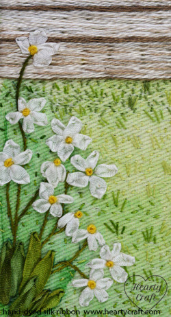 Daisy - Silk Ribbon Embroidery - Hearty Craft