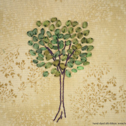 Silk Ribbon Embroidery - Tree Pattern (4)