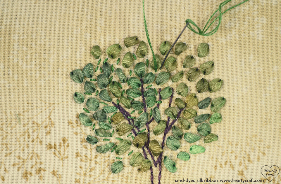 Silk Ribbon Embroidery - Tree Pattern (5)