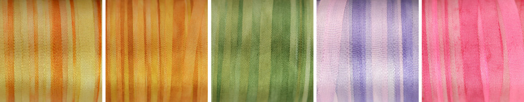 New 4mm silk ribbon for embroidery