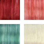 Hand-Dyed Silk Ribbon - Christmas Shades