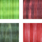 Hand-Dyed Silk Ribbon - Christmas Shades 2