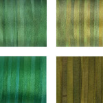 Hand-Dyed Silk Ribbon - Green Pack 2