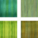 Hand-Dyed Silk Ribbon - Green Pack 3