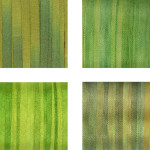 Hand-Dyed Silk Ribbon - Green Pack