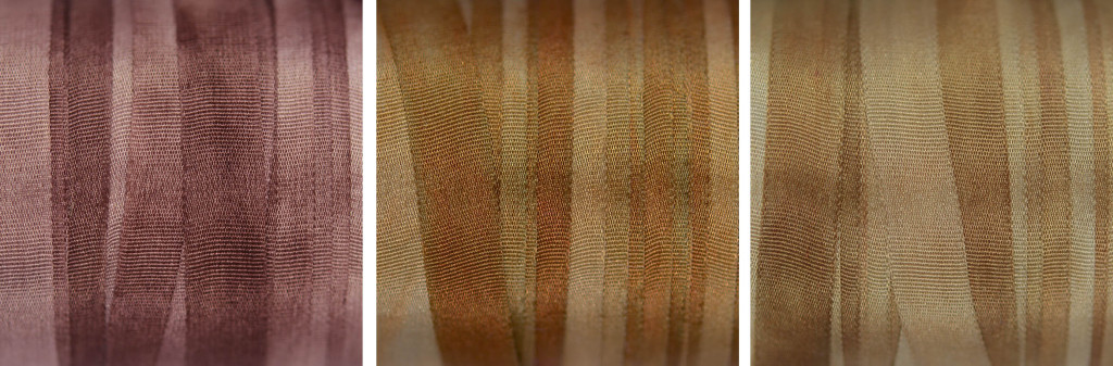 Brown silk ribbon shades