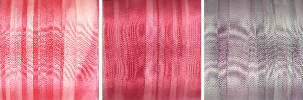 7mm wide pink and mauve silk ribbon