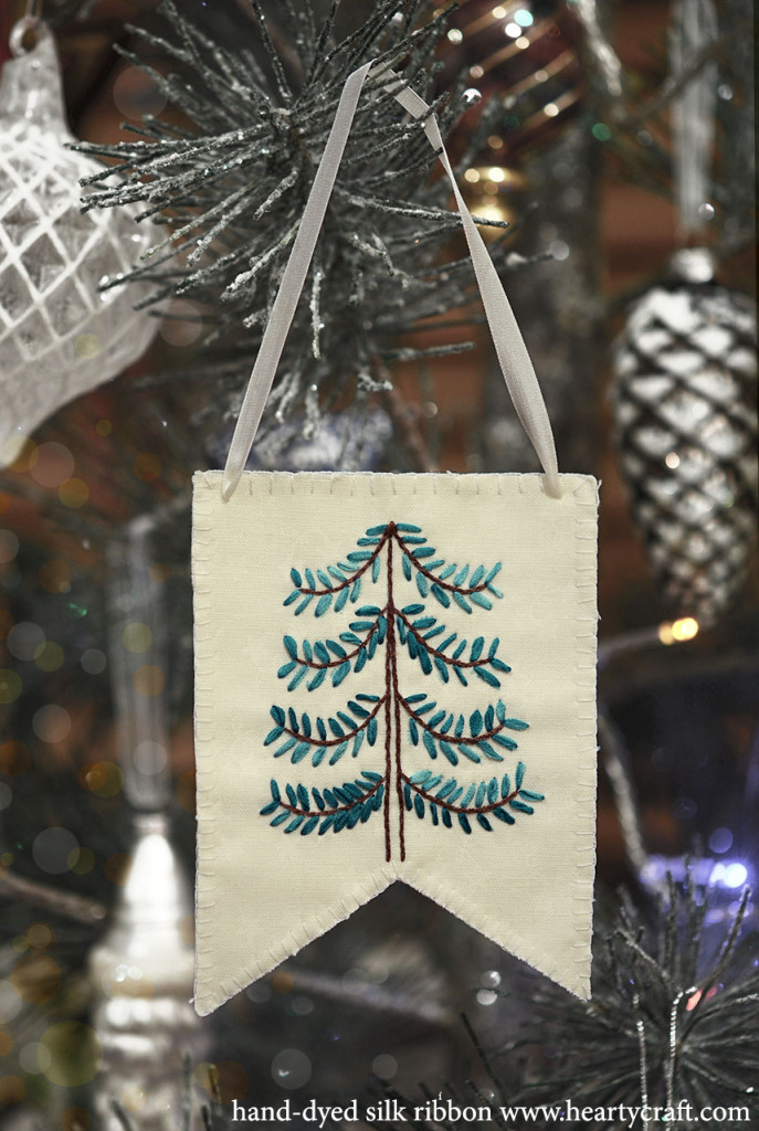 Free Christmas Tree Pattern For Silk Ribbon Embroidery Hearty Craft