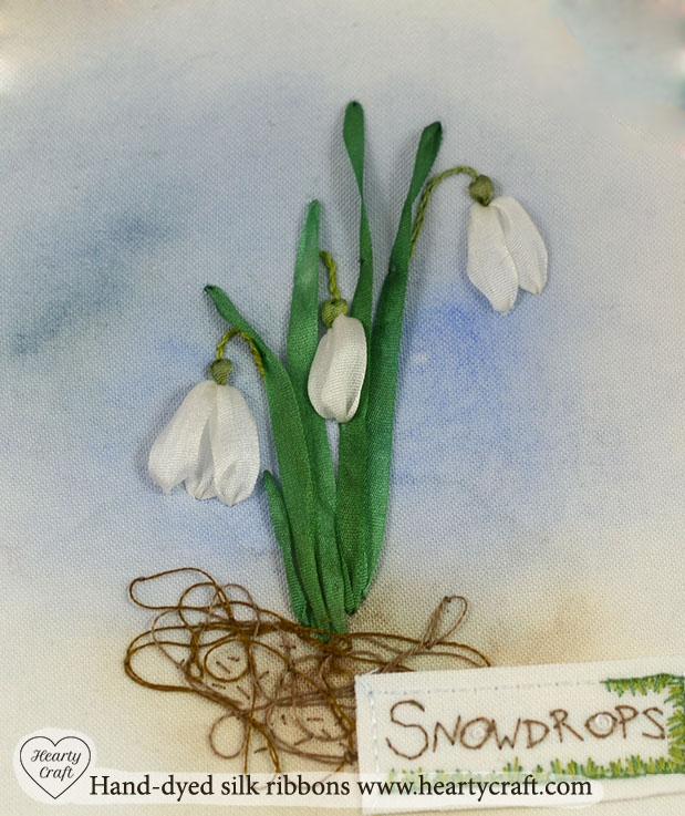 Silk ribbon embroidery tutorial snowdrops hearty craft inch wide silk ribbon for petals and 4mm 18 inch wide one for leaves follow this easy tutorial to embroider a bunch of those beautiful flowers mightylinksfo