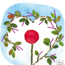 Valentine Card. Silk Ribbon Embroidery Pattern