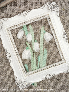 Silk Ribbon Tutorial - Tiny Snowdrops