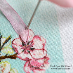 Stitching a Petal of a Cherry Flower