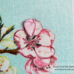Cherry Blossom Tutorial. Ribbon Stitch