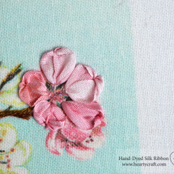 Silk Ribbon Tutorial for Cherry Blossom