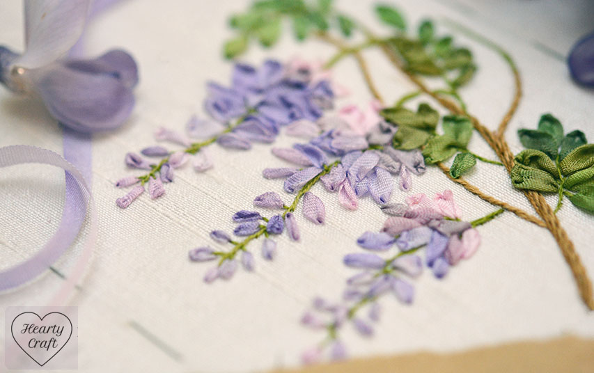 Garden Party - Wisteria Silk Ribbon Embroidery
