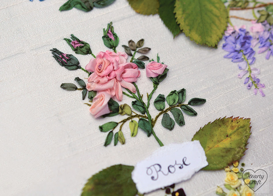 rose ribbon embroidery garden party 1 - Embroidery Garden