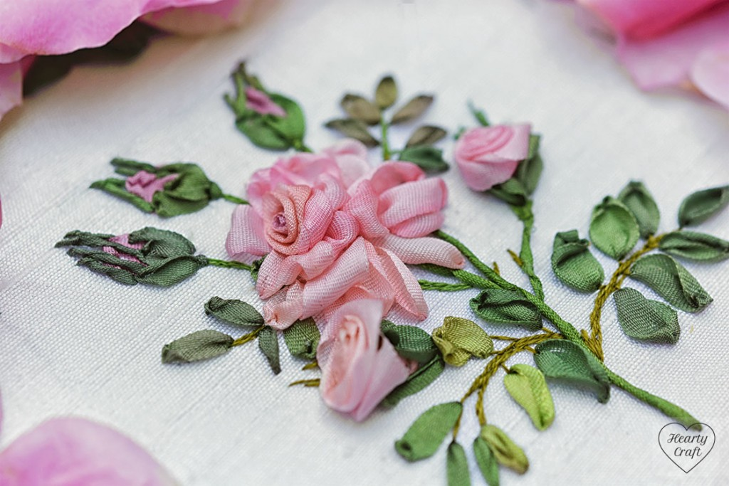 Rose Ribbon Embroidery - Garden Party by Helen Ericsson