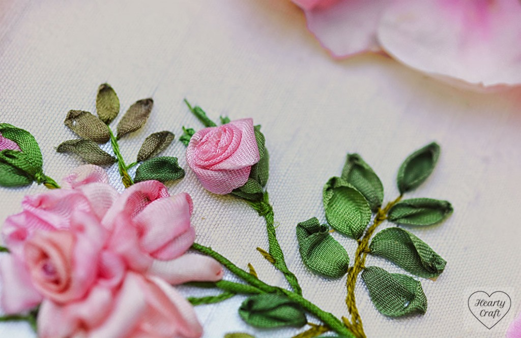Rose Silk Ribbon Embroidery - Helen Ericsson