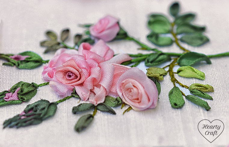 Silk Ribbon Roses - Garden Party Design