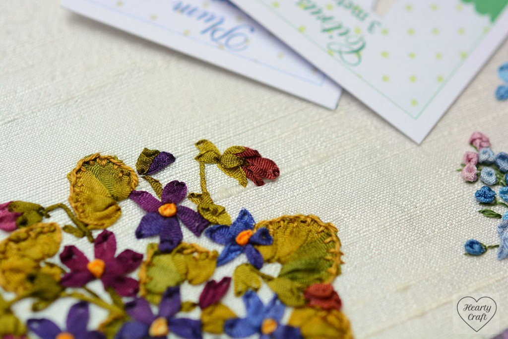 Violets Silk Ribbon Embroidery by Helen Ericsson