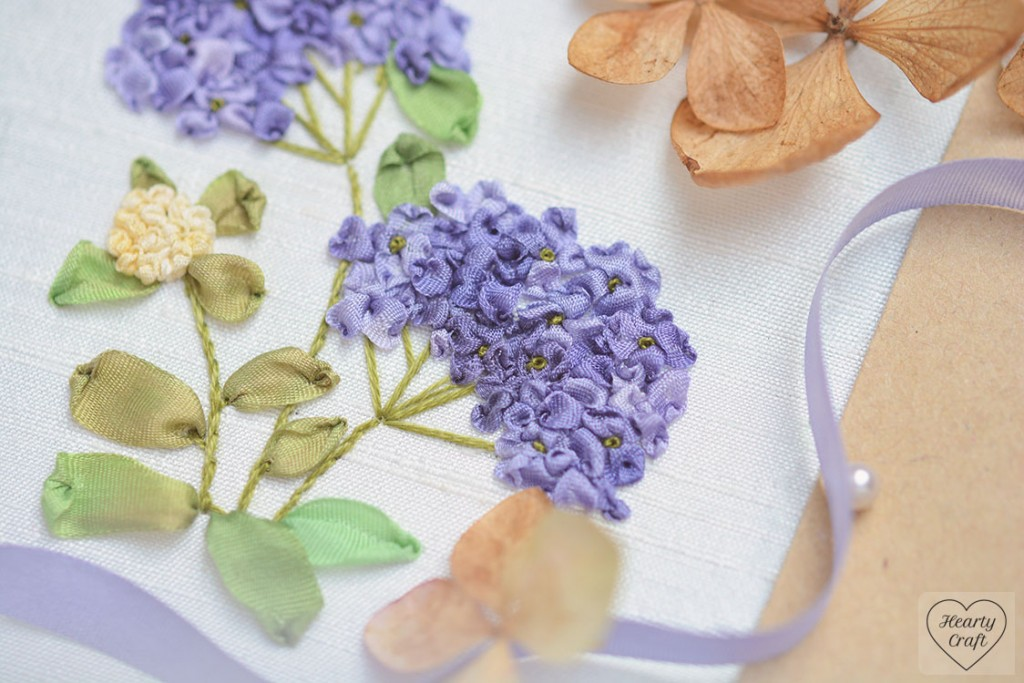 Hydrangea Silk Ribbon Embroidery