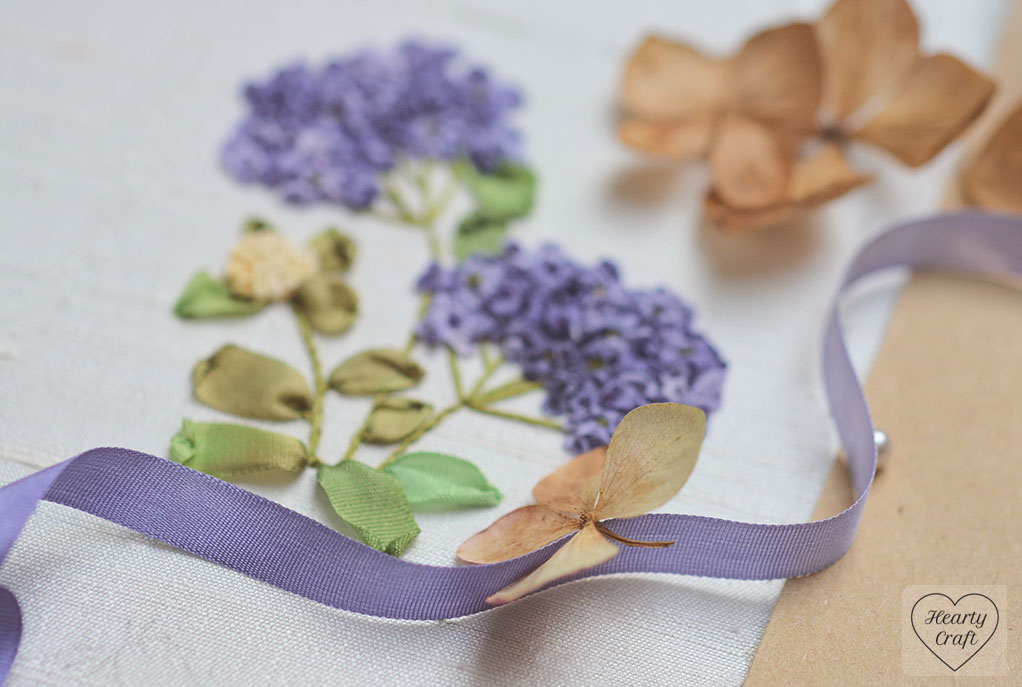 Hydrangea Flower - Silk Ribbon Embroidery
