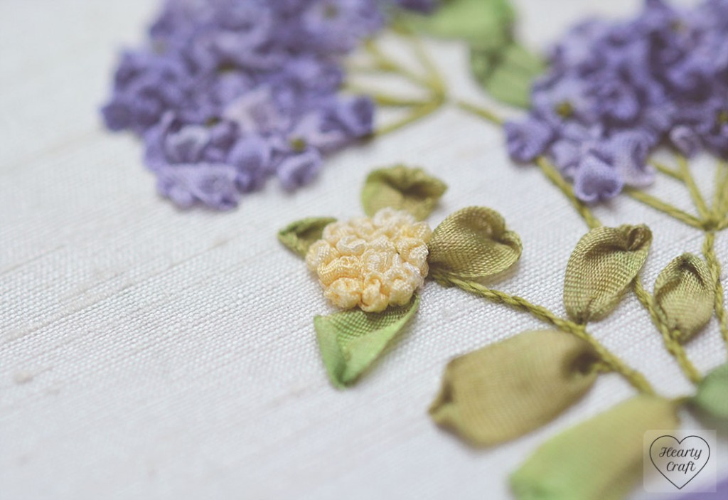 Hydrangea Buds Silk Ribbon Embroidery