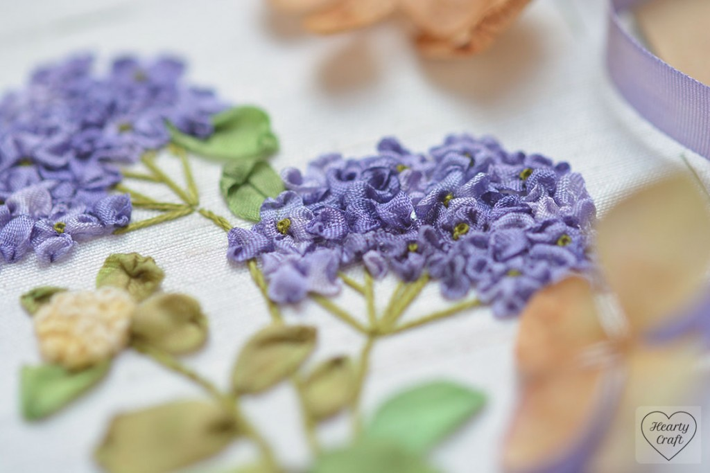 Hydrangea Embroidered with Ribbon