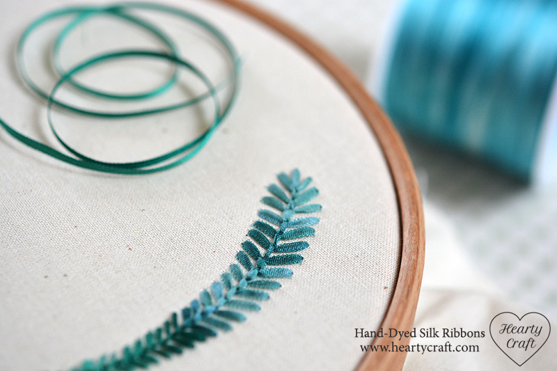 Fly Stitch. Silk Ribbon Embroidery Tutorial