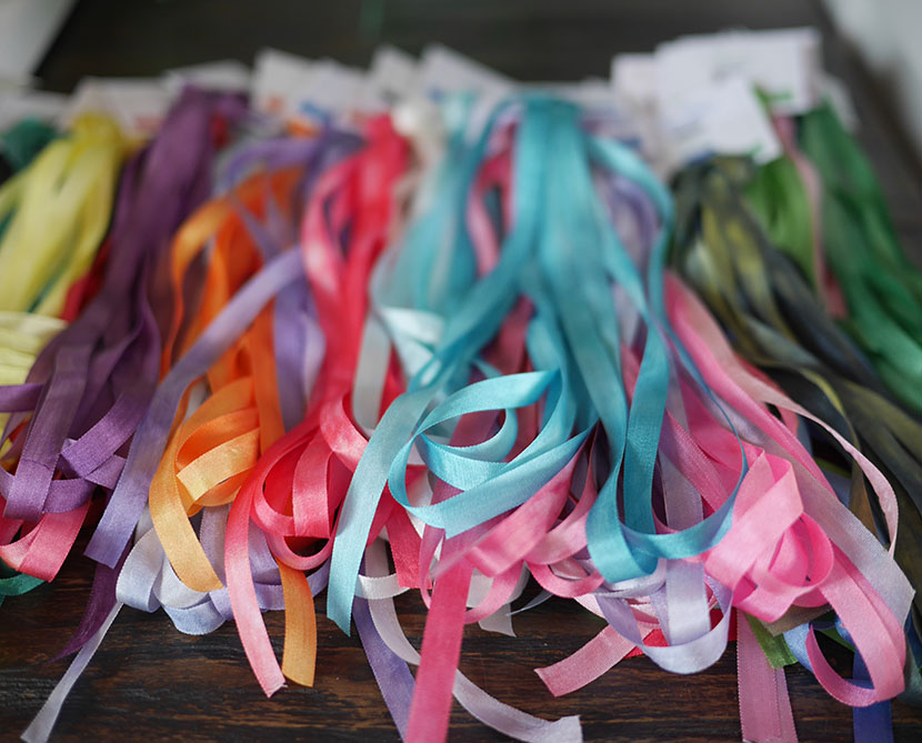Hand Dyed Silk Ribbons are Back in Stock