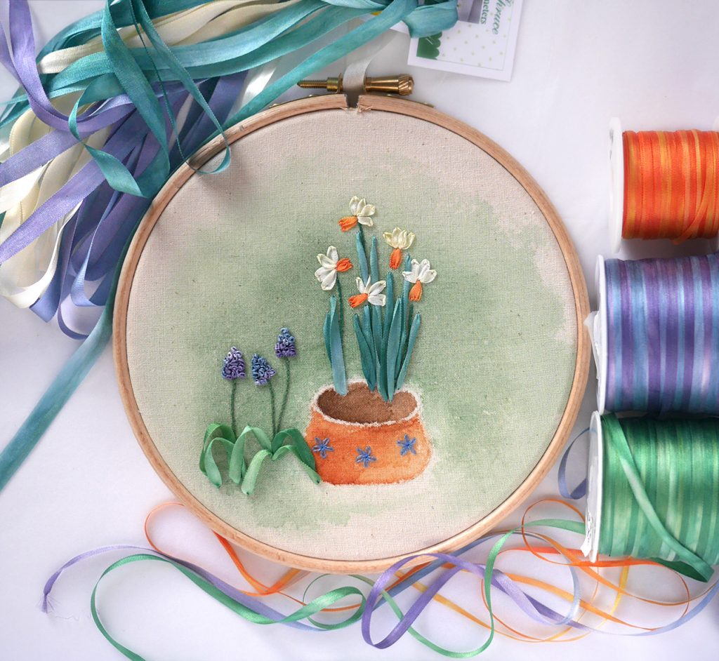 Silk Ribbon Embroidery Class