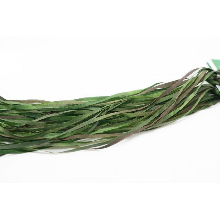 hand-dyed silk ribbon Forest Green 2mm