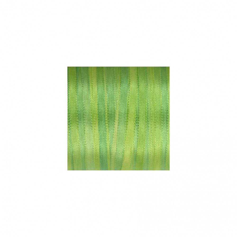 hand-dyed silk ribbon Apple Green 2mm