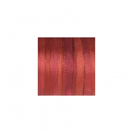 hand-dyed silk ribbon Auburn 2mm