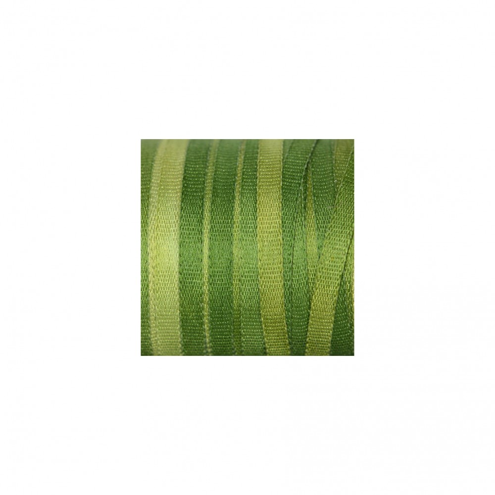 hand-dyed silk ribbon Avocado Green 2mm