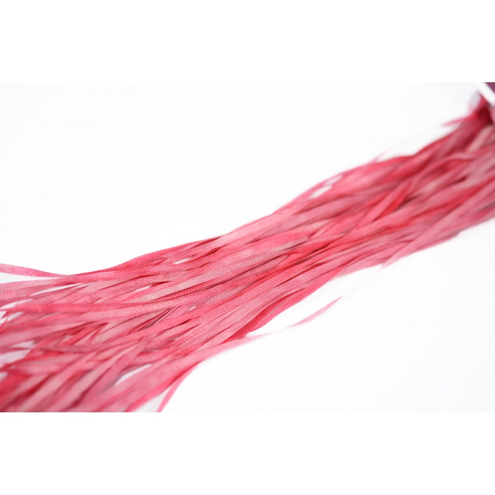hand-dyed silk ribbon Cherry Pink 2mm