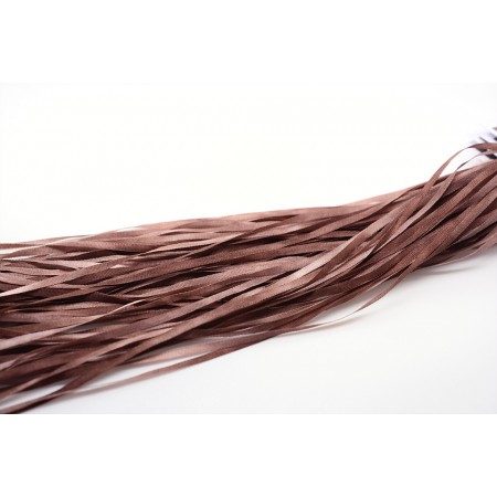 hand-dyed silk ribbon Chestnut 2mm