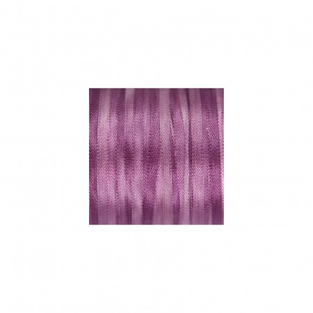 hand-dyed silk ribbon Lavender 2mm