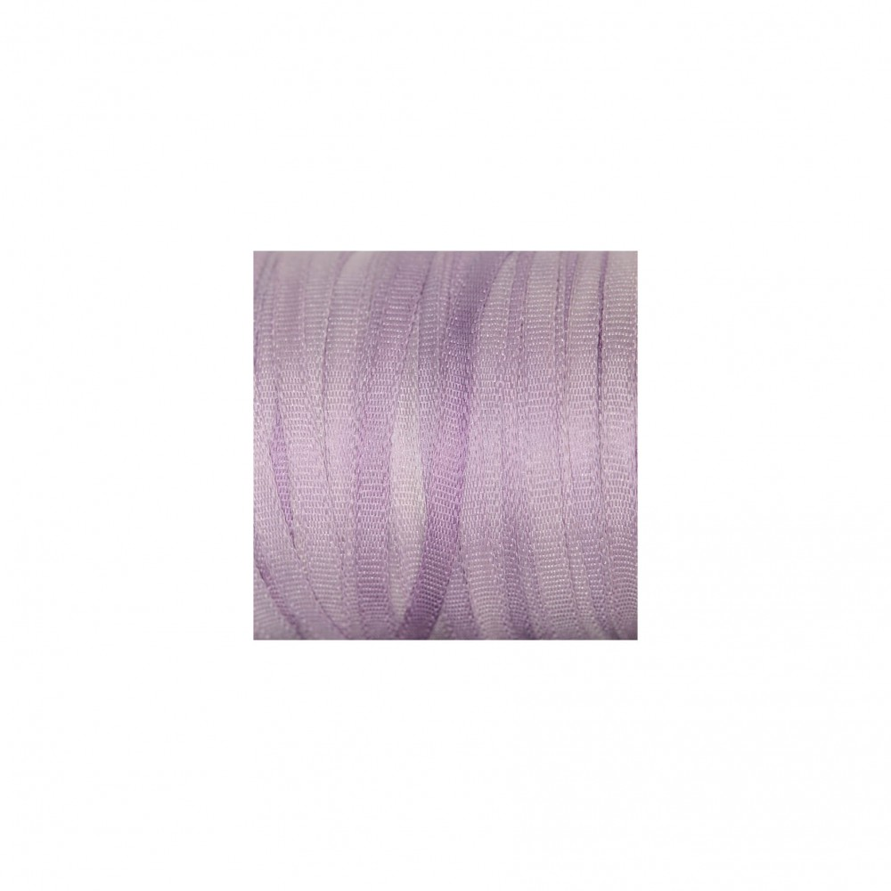 hand-dyed silk ribbon Lilac 2mm