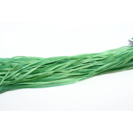 hand-dyed silk ribbon Light Foliage 2mm
