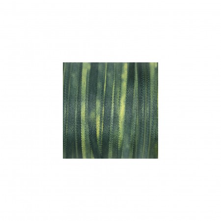 hand-dyed silk ribbon Pine 2mm