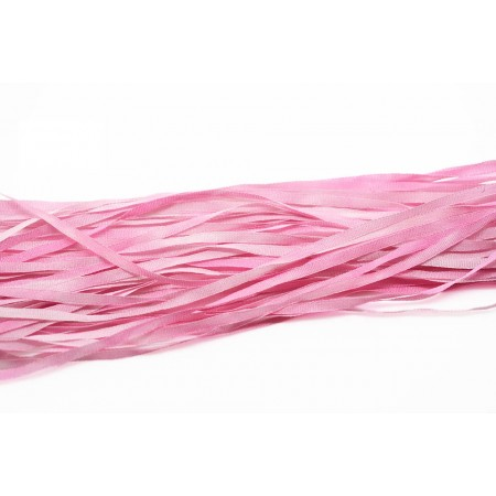 hand-dyed silk ribbon Pink 2mm