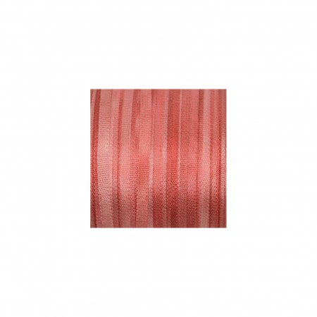 hand-dyed silk ribbon Russet Red 2mm