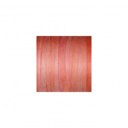 hand-dyed silk ribbon Salmon 2mm