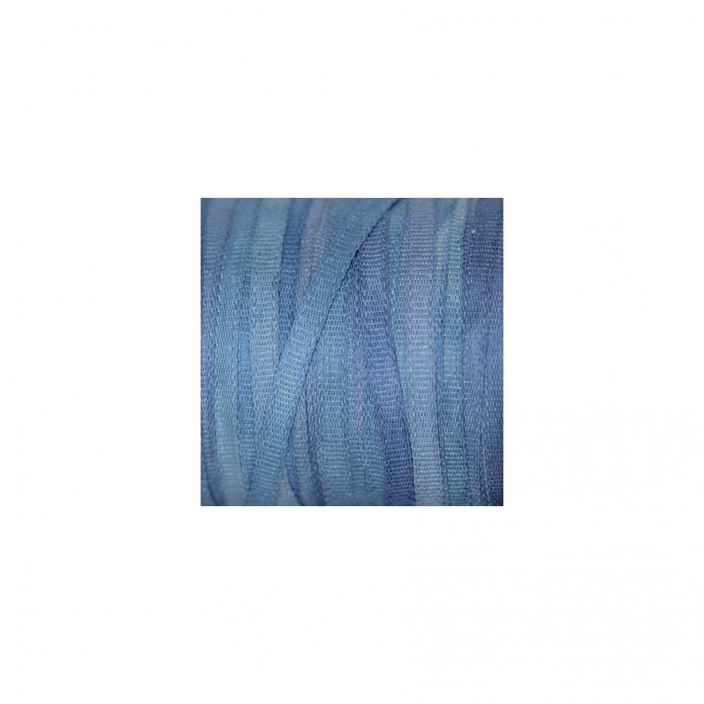 hand-dyed silk ribbon Sea Blue 2mm
