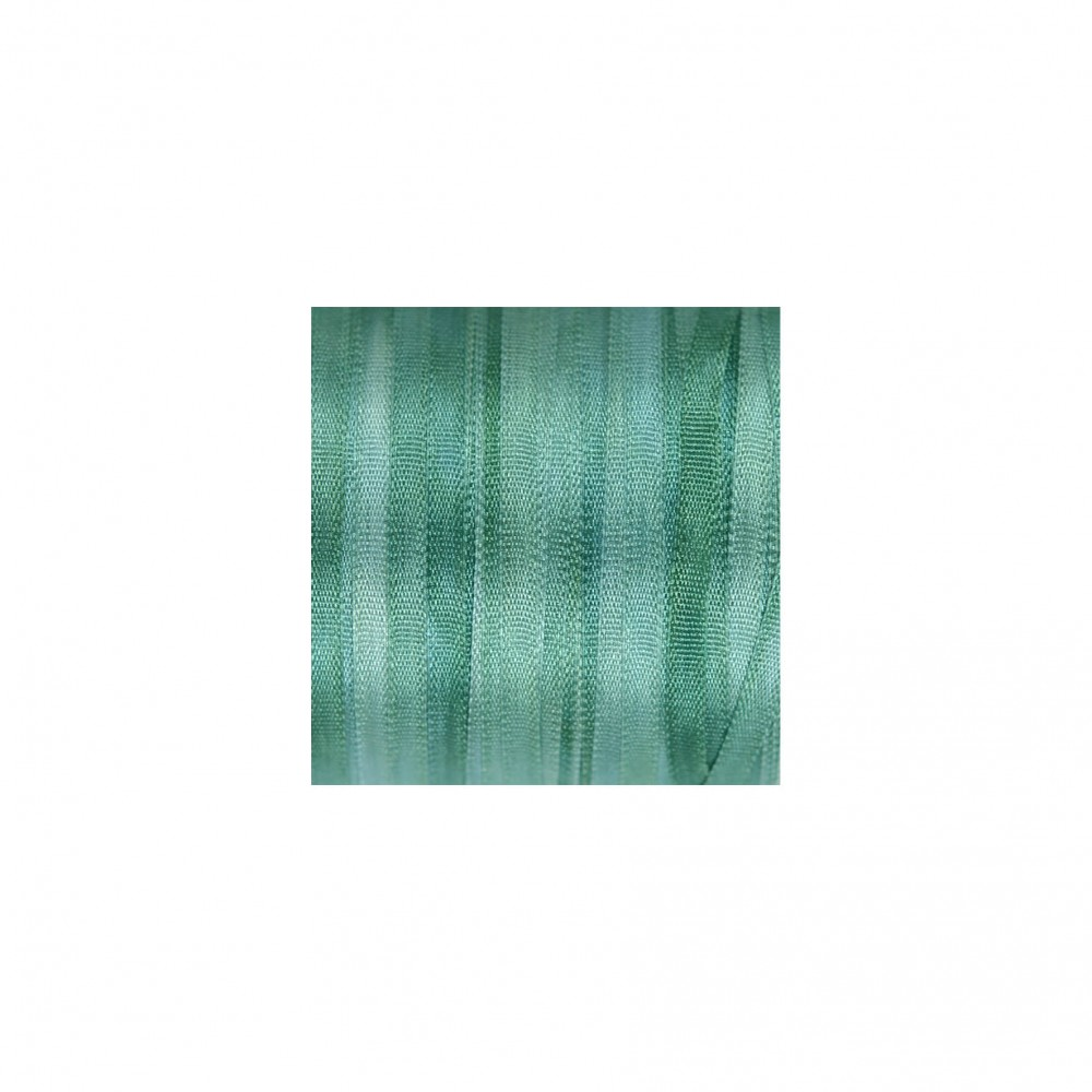 hand-dyed silk ribbon Spruce 2mm