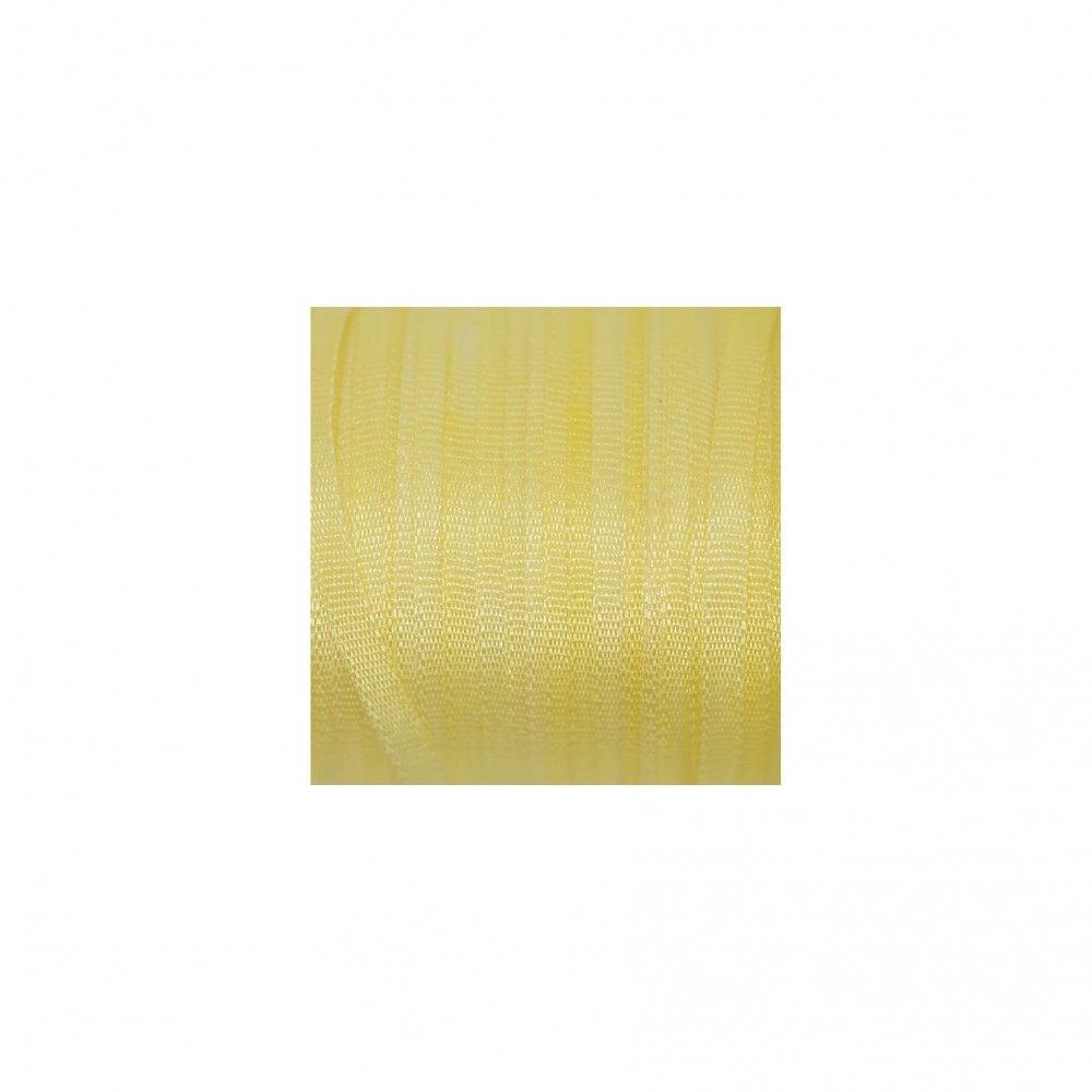 hand-dyed silk ribbon Vanilla 2mm